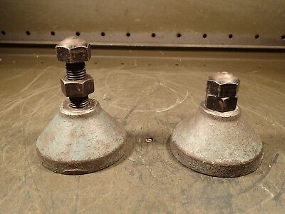 2 Piece Set Of Machinist Work Supporting Leveling Screw Jacks Height Range 3-4