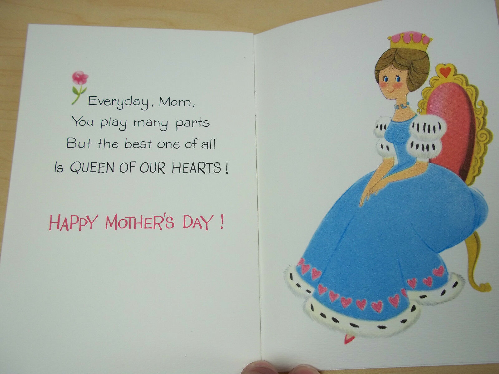 2 Vintage American Greeting Cards For Mom Mothers Day Mint