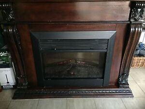 Antique Look Electric Fireplace