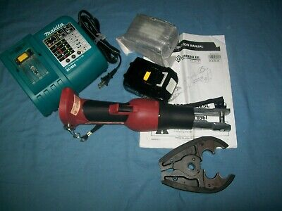 New Greenlee Gator Ek425l Hydraulic 6 Ton Crimping Tool Cjd30 Jaws 2 Batteries