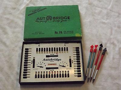 VINTAGE 1957 BRIDGE GAME DELUXE POCKET MODEL  PA FOR ADVANCED PLAYER AUTOBRIDGE