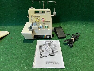 Toyota 3 & 4 Thread Overlock 6600 Serger Sewing Machine with Foot Controller