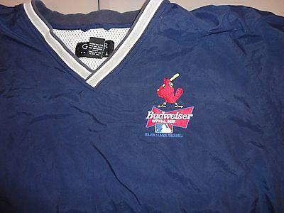 MLB Gear for Sports St Louis Cardinals Budweiser Beer V Neck Blue Jacket Rare (St Louis Cardinals Gear)