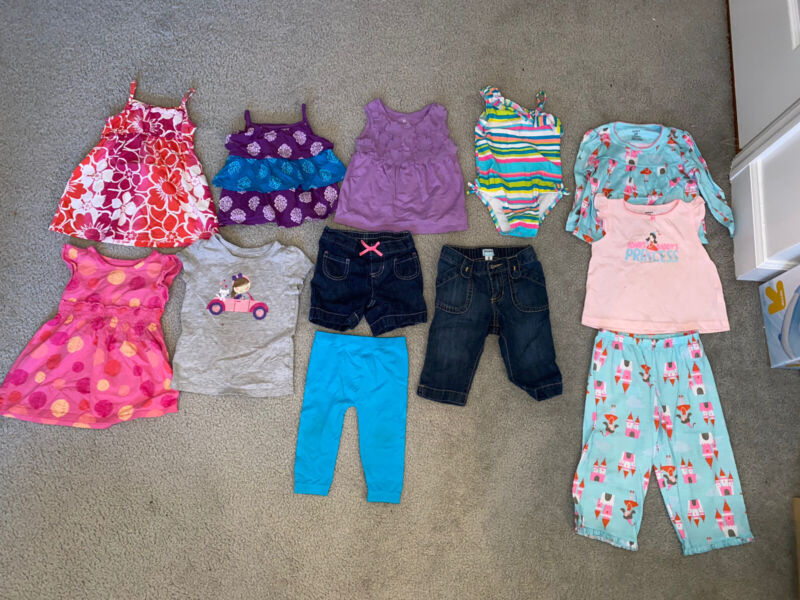 Baby Girls, Clothes, 12pc Lot, Spring/summer, Carters/old Navy, 18-24months-2t