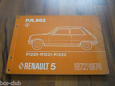 RENAULT 5 R5 ab 1972 original ERSATZTEIL KATALOG ETK 3.A. WERKSTATT HANDBUCH ()