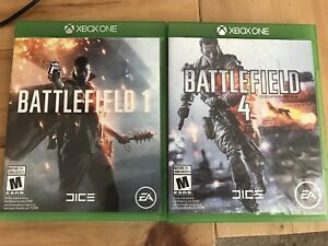 Battlefield one and battlefield 4 Xbox one