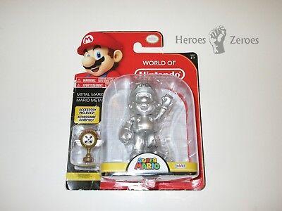 Jakks Pacific World Of Nintendo Series 2 7 Metal Mario Imperfect Package Nib