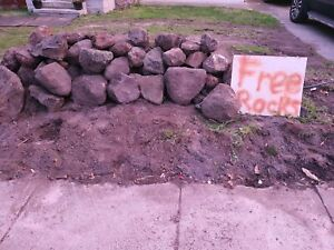 Free garden volcano rocks