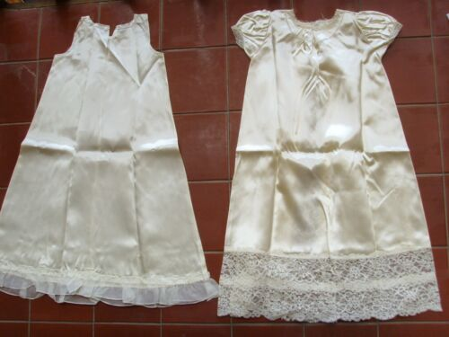 Vintage NWOT Lace Baptism Christening Gown & Slip Baby Doll Clothes 28""