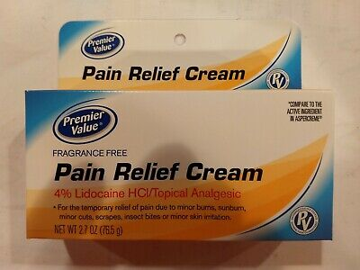 Maximum Strength Lidocaine 4% Pain & Itch Relief Cream  FREE SHIP Expires 1/20