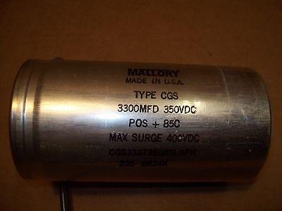 Mallory Cgs332t350x5l8ph 3300mfd 350vdc 400vdc Surge Capacitor P203
