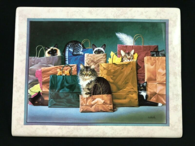"BRALDT BRALDS - Cats ""Bag Ladies"" Plate Limited Edition Bradford Exchange"