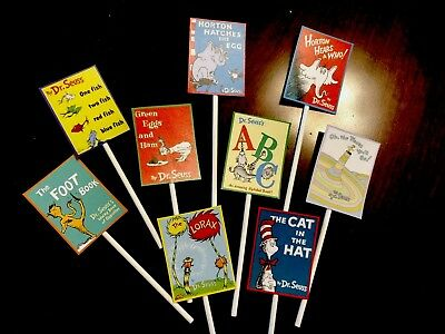 Dr. Seuss Cupcake Toppers, First Birthday Party (Dr Seuss Cupcake Toppers)
