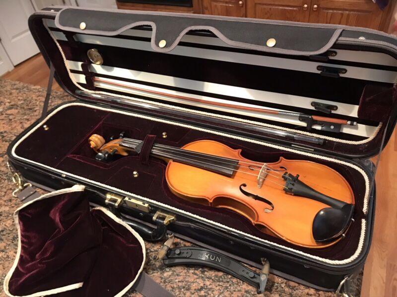Vintage Full Size 4/4 Violin, Marc Laberte Made In Germany W/Case & Bow