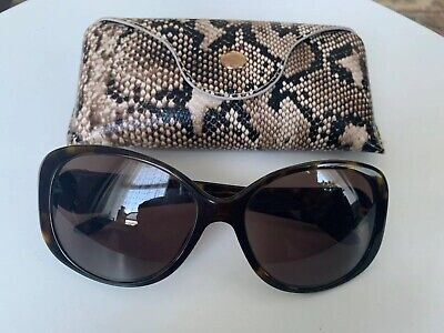Genuine VERSACE Gold 3D Medusa Tortoise Brown Sunglasses VE 4221 108/73