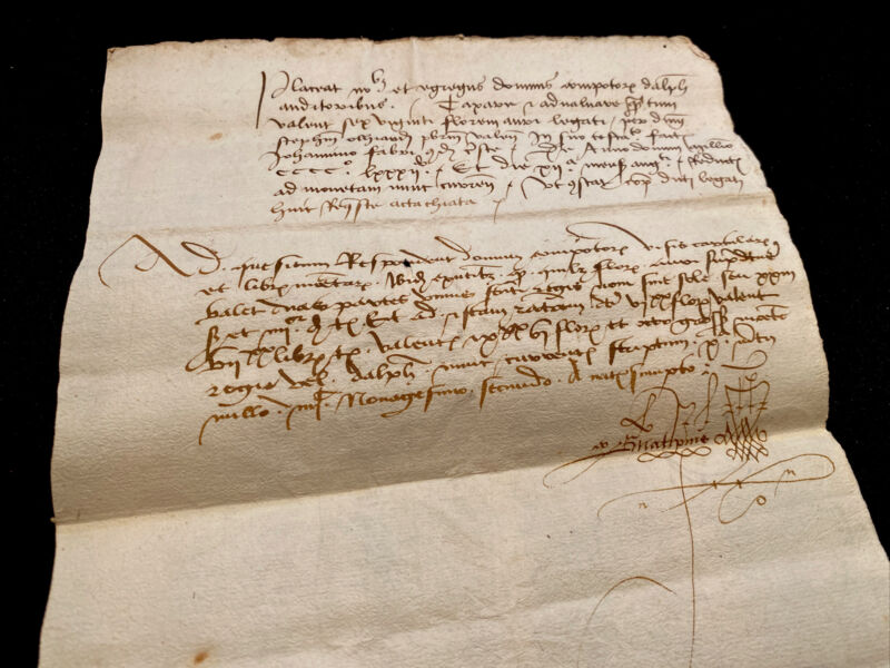 MEDIEVAL DOCUMENT IN LATIN 1482