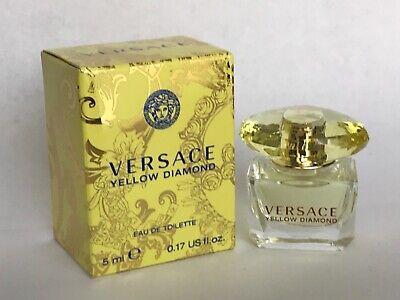 Versace Yellow Diamond Perfume for WOMEN EDT Mini Size Bottle 5ml NIB