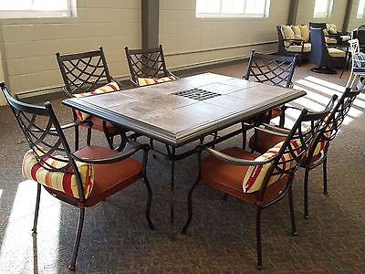 Outdoor Patio Furniture 7 pc Cast Aluminum Dining Set