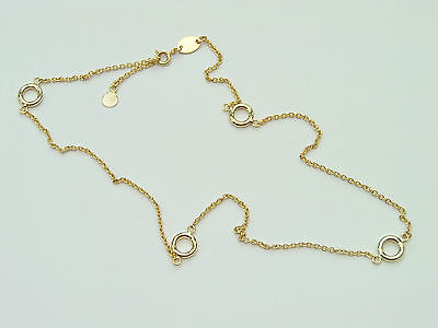 GOLD COLOUR INFINITY 17 INCH CHAIN NECKLACE JEWELLERY MAKING FINDINGS