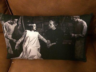 """Universal Monsters Halloween BRIDE OF FRANKENSTEIN 12""""x20"""" Lumbar pillow"""