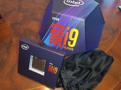 Cpu processore Intel Core i9 9900K Octa-Core con custodia originale e sticker