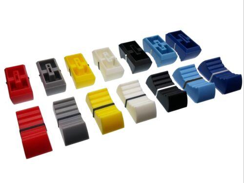4mm Cap for Slider / Fader / Pot Knob - 7 Colours - Potentiometer / Mixer