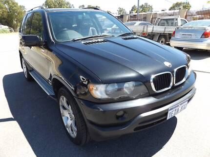 2002 BMW X5 E53 BLACK 5 SPEED AUTO STEPTRONIC $7490 Maddington Gosnells Area Preview