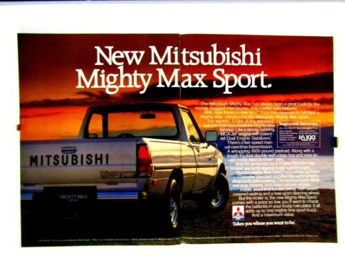 "1985 Mitsubishi Mighty Max Original Print Ad 2 Page Ad 8.5 x 11"""