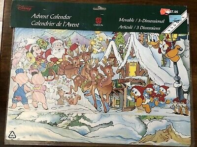 Vintage Disney Christmas Advent Calendar Mickey Mouse & Friends - Carlton Cards