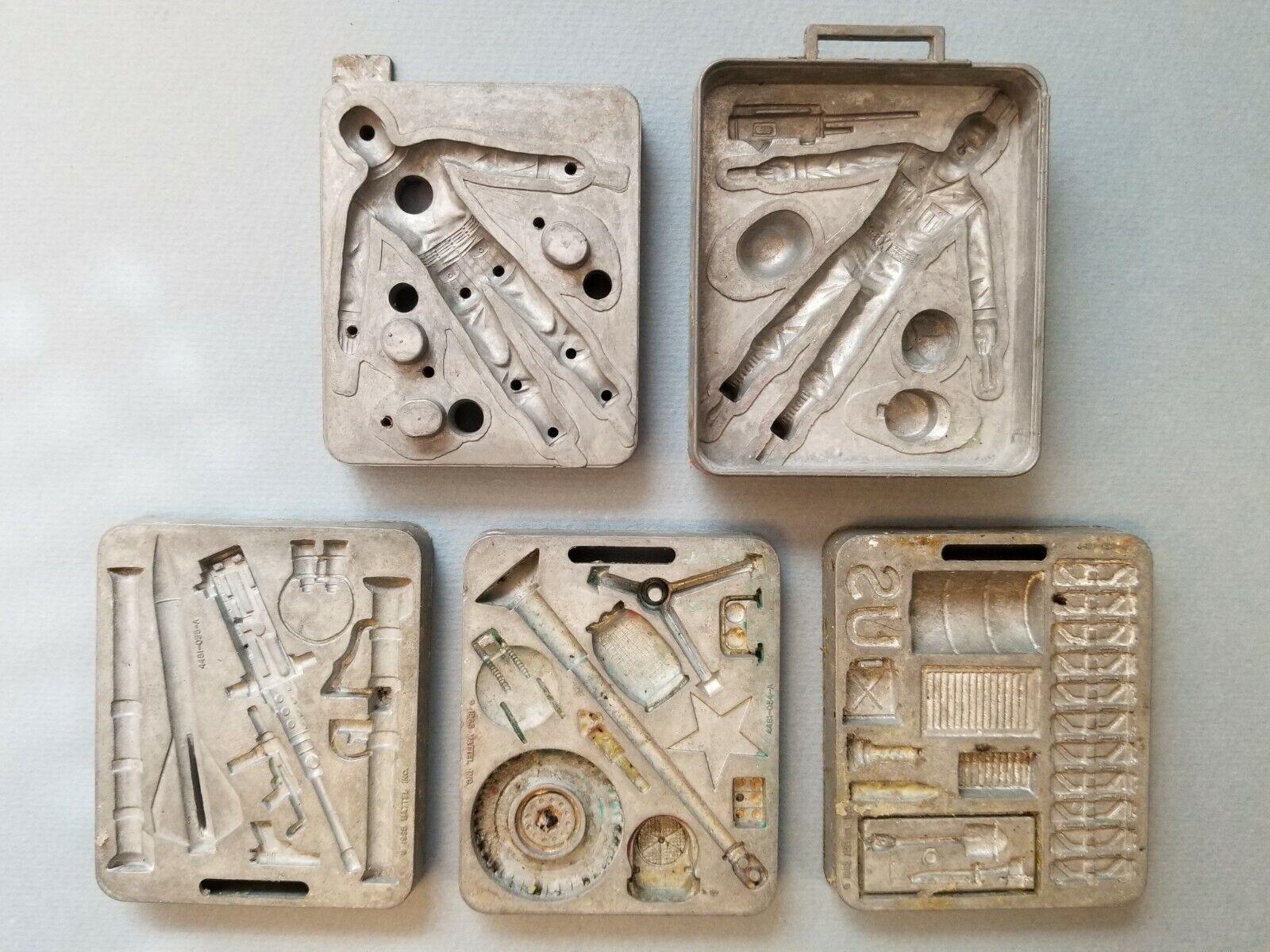 Vintage Mattel Thingmaker 1965 Fighting Men Molds Lot of 5