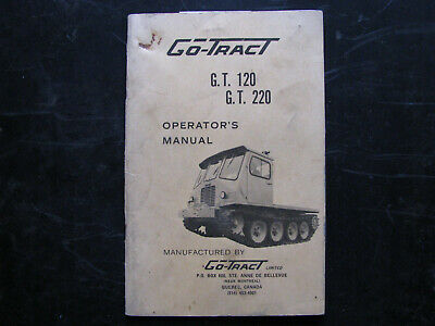 1960s Go-tract Crawler Track Truck Operators Manual Gt-120 Gt-220 Vintage