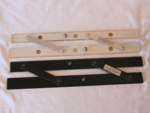 """Two Vintage 15"""" Parallel Rulers For Navigation One Black Esco One Clear C-Thru"""