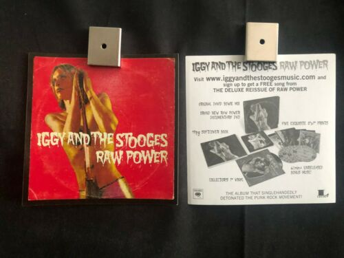 "Iggy And The Stooges Raw Power 4x4"" Promo Album Sticker Set of 4 Iggy Pop"
