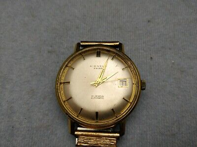 "Vintage "" Kienzle "" Automatic Wrist Watch 35mm Rolled Gold 21 Jewels Running"