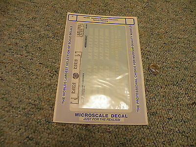 Microscale  decals O 48-209 Western Maryland cabooses speed lettering  A93