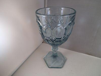 Vintage Blue Excelsior EAPG Viking Glass Water Goblet