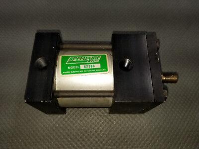 New Speedaire 6x386 Air Cylinder 2-12 Bore Aluminum 1 Stroke Nut Mount