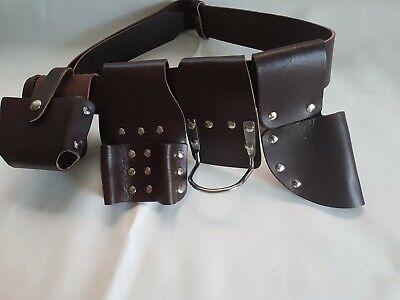 Scaffold Strong Leather Tool Belt Professional Spanner Frog Hammer Level Holder