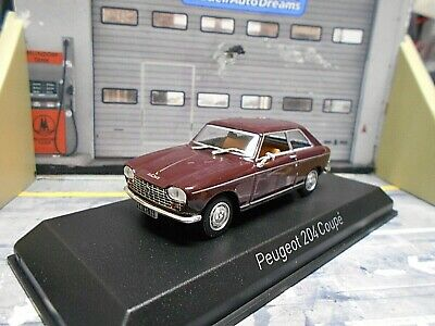 PEUGEOT 204 Coupe 1967 maroon rot braun  Norev 1:43 Maroon Coupe
