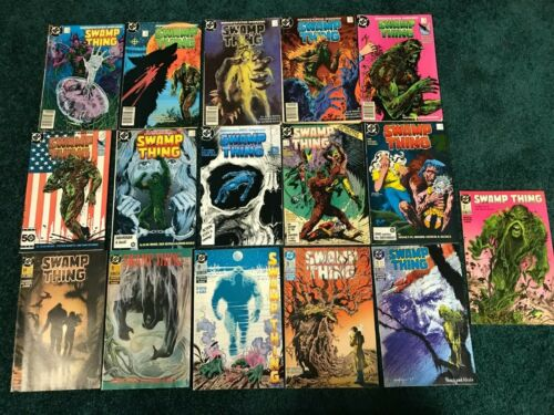 Lot of 16 Swamp Thing - Plus Annual #2 - Great Cover Art - Alan Moore !!
