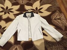 Ladies WHITE and BLACK LEATHER lamb JACKET size Small Made in Turkey Dingley Village Kingston Area Preview