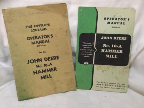 John Deere 10-A Hammer Mill Operator
