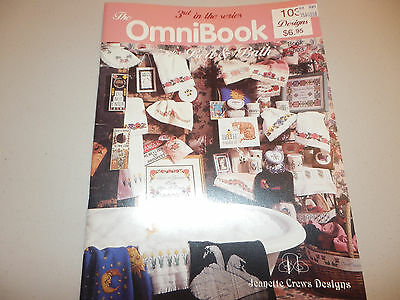THE OMNI BOOK OF BED & BATH #3 ~ JEANETTE CREWS ~ COUNTED CROSS STITCH ~ NEW!!