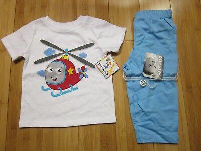 new spring clothes boy 6-9 M months lightweight long pants bottoms & t-shirt