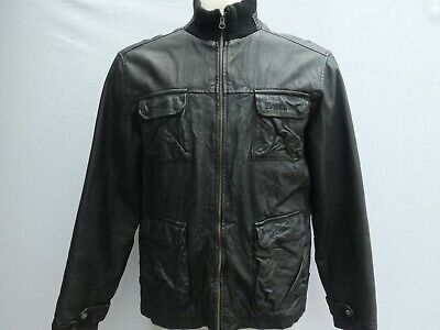 BENCH LEATHER JACKET BLACK SIZE L VERY GOOD CONDITION!!!!!!