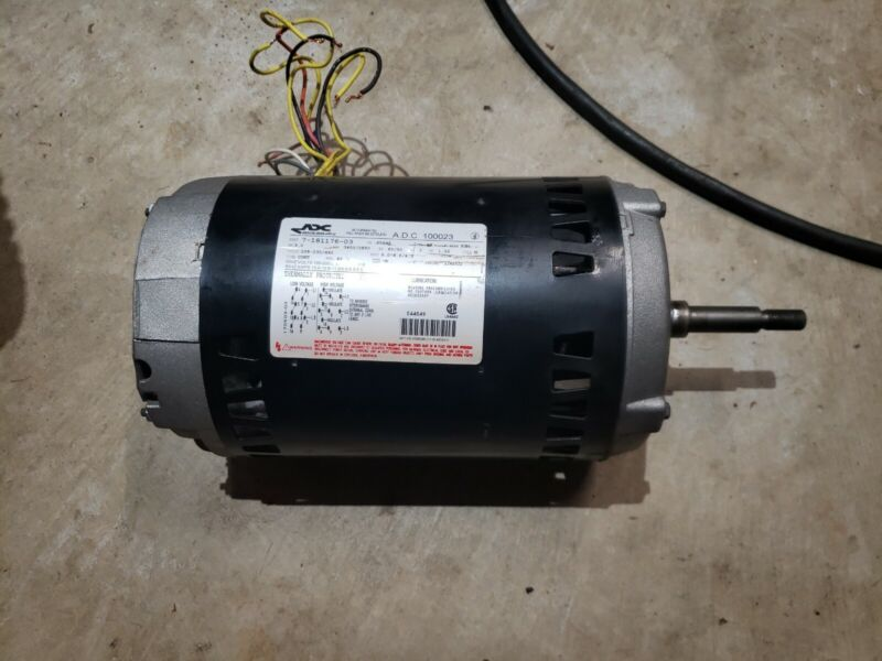 ADC American Dryer Motor Assembly 181176 Model 100023 3hp 208-460 volt used