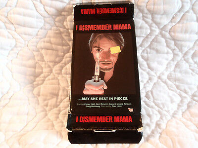 I DISMEMBER MAMA VHS VIDEO GEMS BIG BOX 70'S SLASHER HORROR NUDITY ZOOEY HALL