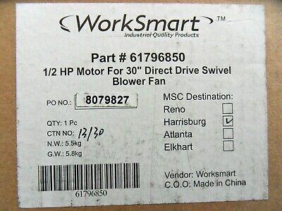 New Worksmart 61796850 Motor For 30 Direct Drive Swivel Blower Fan 12hp