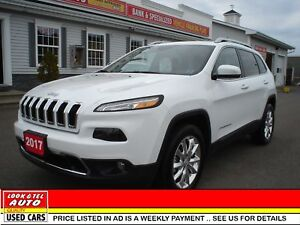 2017 Jeep Cherokee All your's for $105.77 weekly on the road Lim