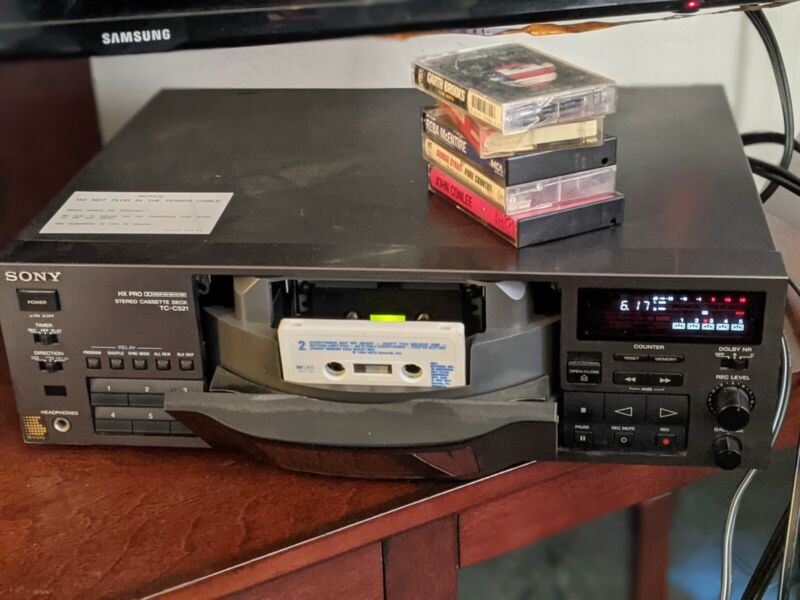 Sony TC-C521 5 Cassette Changer Deck Recorder Tested and in Working Condition